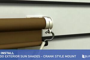 Coolaroo Exterior Sun Shade Installation Overview Crank