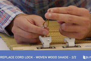 How To Replace A Cord Lock On A Woven Wood Shade 2 Of 2