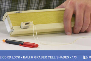 How To Replace A Cord Lock On A Bali Cell Shade 2 Of 3