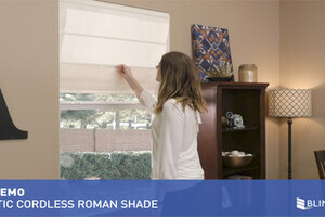 Blinds Com Magnetic Cordless Roman Pleat Shade Quickdemo