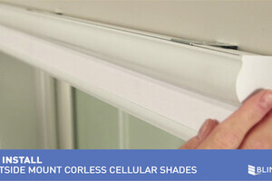 How To Install Bali Cordless Cellular Shades Outside