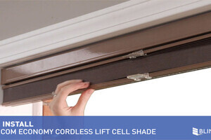 How To Install Inside Mount Economy Cellular Shades With