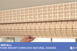 how to install bali cordless natural woven wood shades outside mount safer for kids blinds. Black Bedroom Furniture Sets. Home Design Ideas
