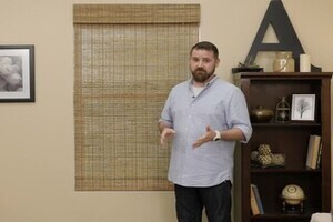 Woven Wood Shades With Privacy Liners Fresh Look
