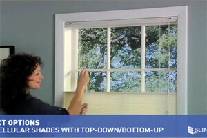 Bali Cellular Shades With Bottom Up Top Down Lift