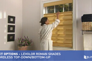 Levolor Fabric Roman Shades With Cordless Top Down Bottom