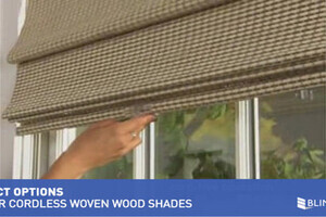 Levolor Natural Woven Wood Shades With Cordless Lift