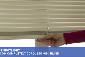 Blinds Com Completely Cordless Mini Blind 187 Aluminum