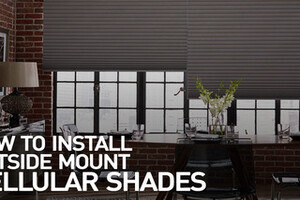 How To Install Cellular Shades Outside Mount