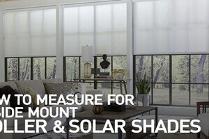 How To Measure For Inside Mount Roller And Solar Shades