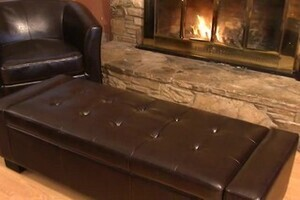 Ravello Bonded Leather Storage Ottoman 187 Welcome To Costco