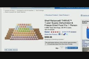 Costco Complete Id >> THRIVE 1-year Supply Dehydrated & Freeze-Dried Food For 1 Person » Shelf Reliance - Emergency ...
