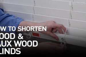 How To Shorten Faux Wood Blinds