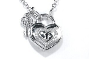 Zales Forever Locking Love Diamond Accent Heart Shaped